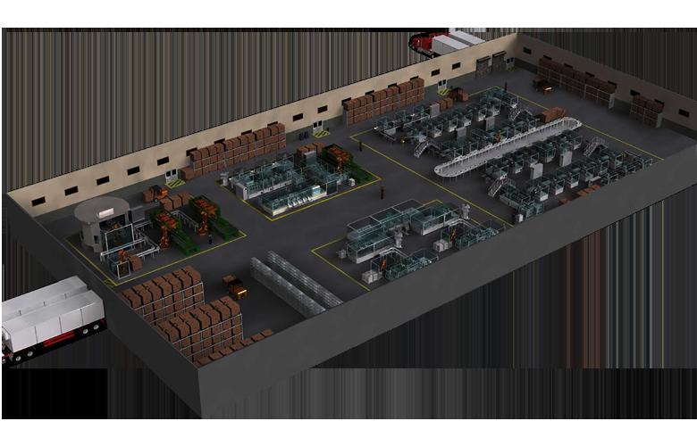 Chiếu sáng dây chuyền nhà máy