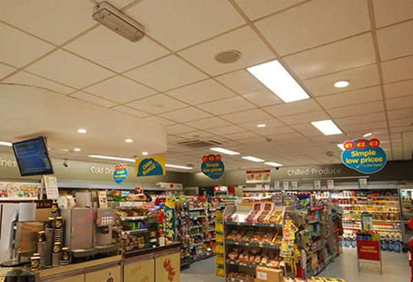 Chiếu sáng khu vực mua bán chung