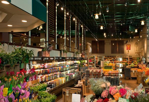 Chiếu sáng cửa hàng thực phẩm