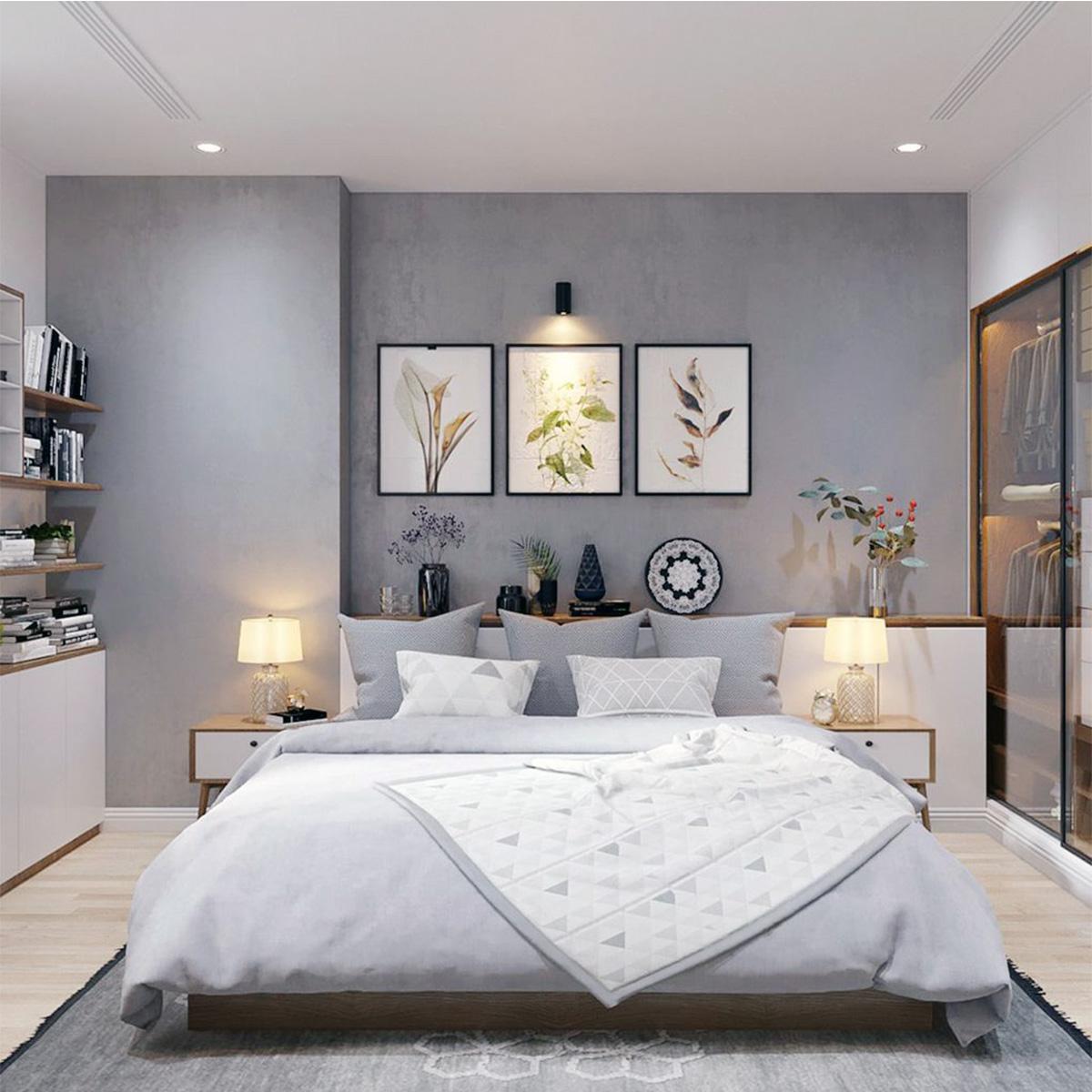 Phòng ngủ sử dụng đèn đầu giường