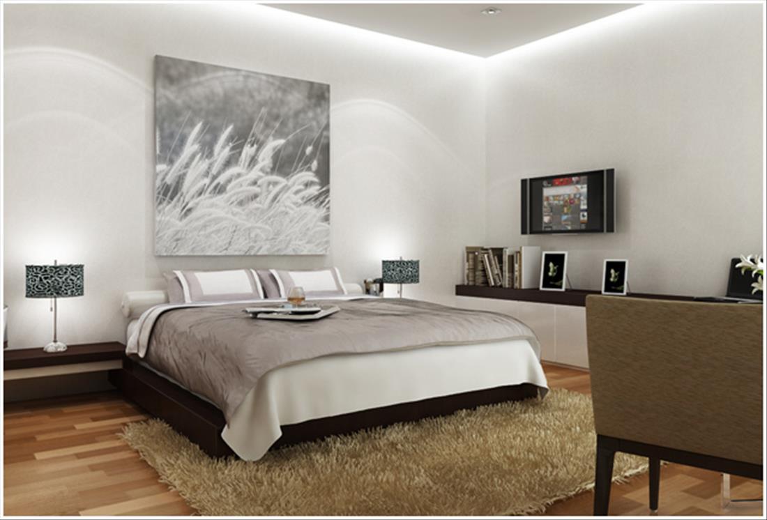 Phòng ngủ sử dụng led dây trang trí
