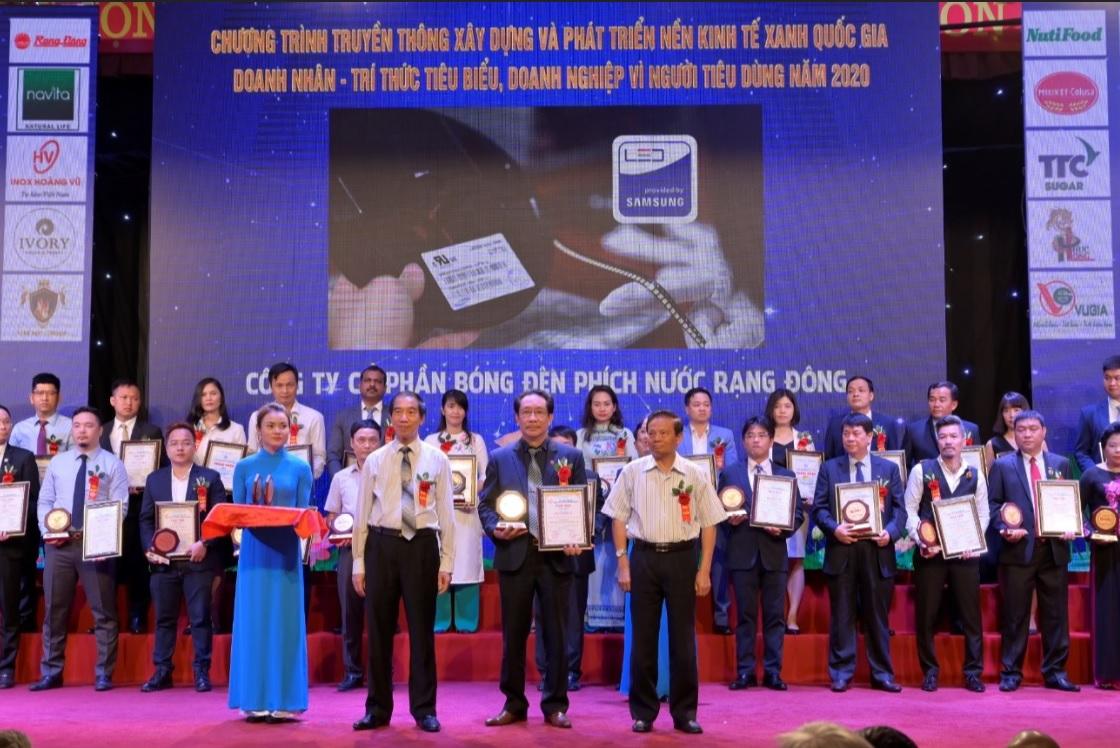 Rạng Đông được vinh danh TOP 10 thương hiệu Vàng Việt Nam năm 2020