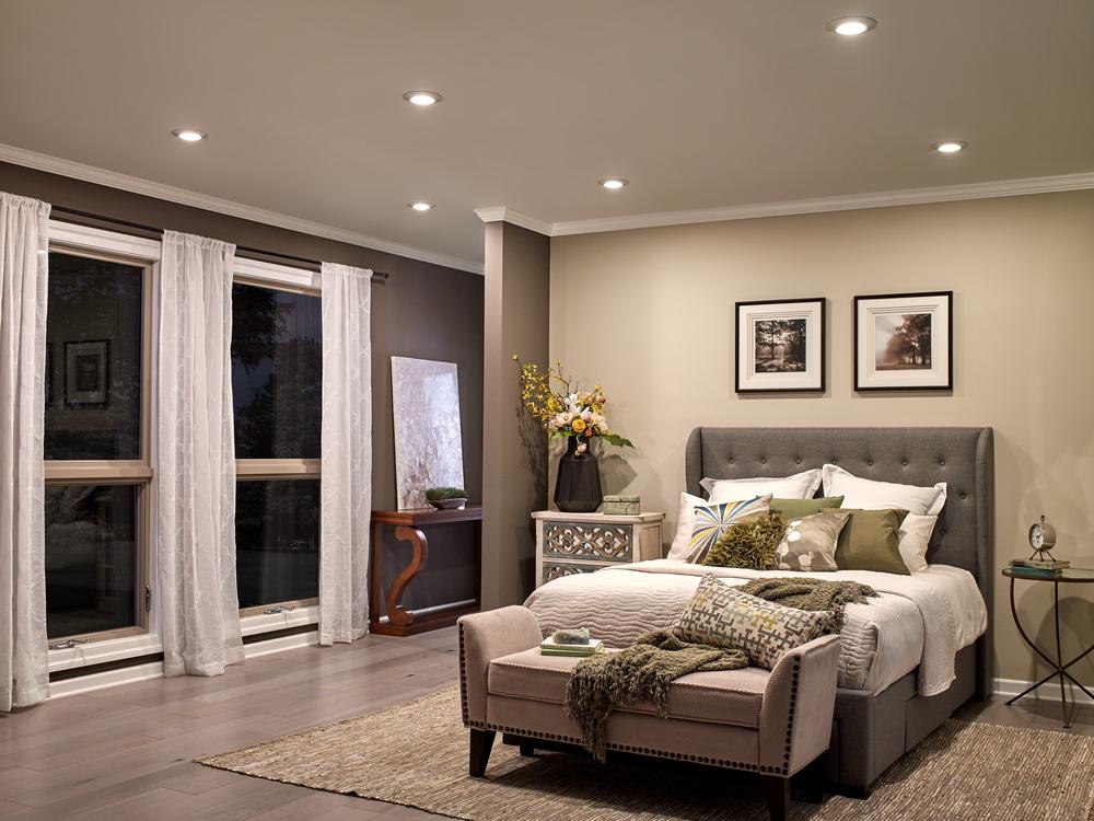 Đèn LED Downlight âm trần chiếu sáng phòng ngủ