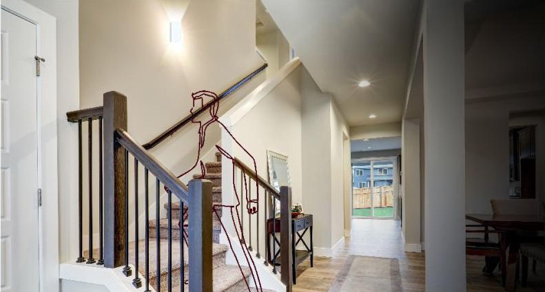 Đèn ốp tường LN18 83x60 6w chiếu sáng cầu thang