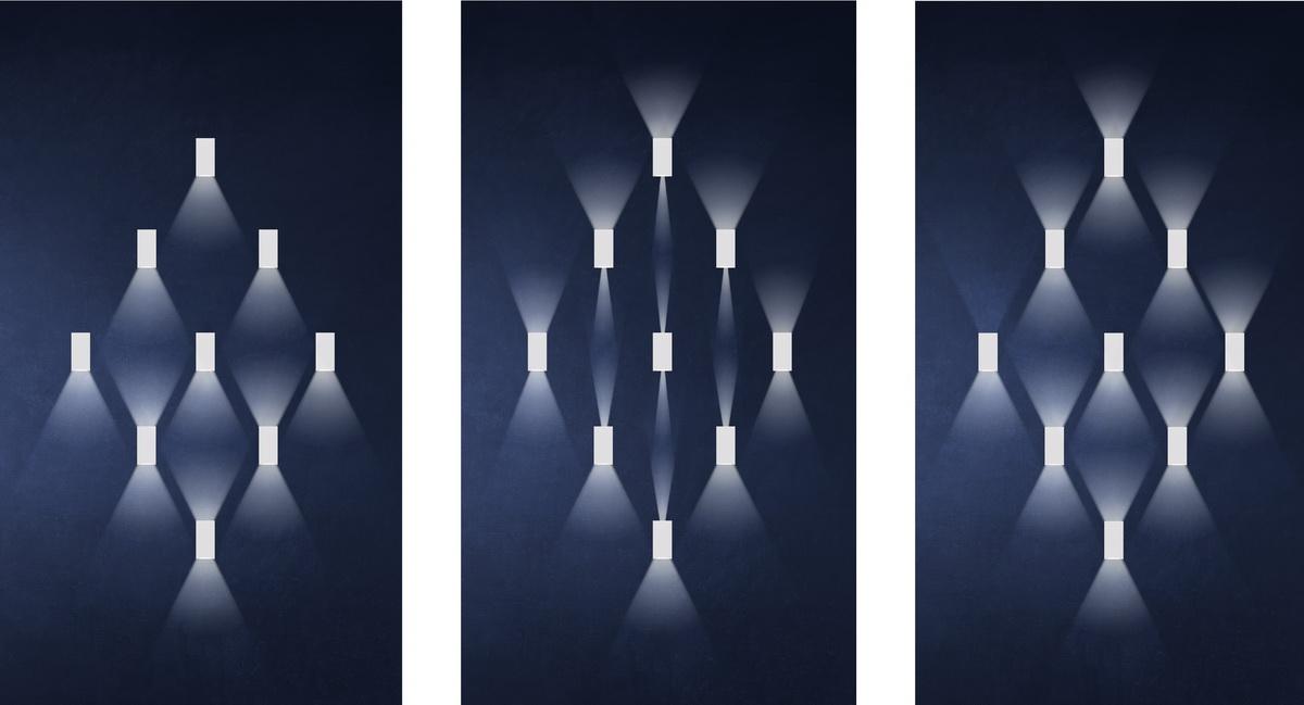 Đèn ốp tường LN18 83x60 6w hắt sáng 2 chiều linh hoạt điều chỉnh góc chiếu