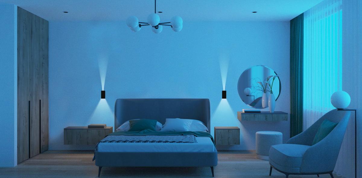 Đèn ốp tường LN18 83x60 6w chiếu sáng phòng ngủ