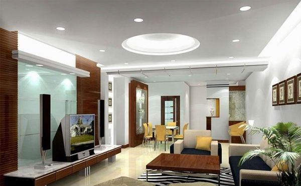 Đèn LED panel tròn chiếu sáng phòng khách