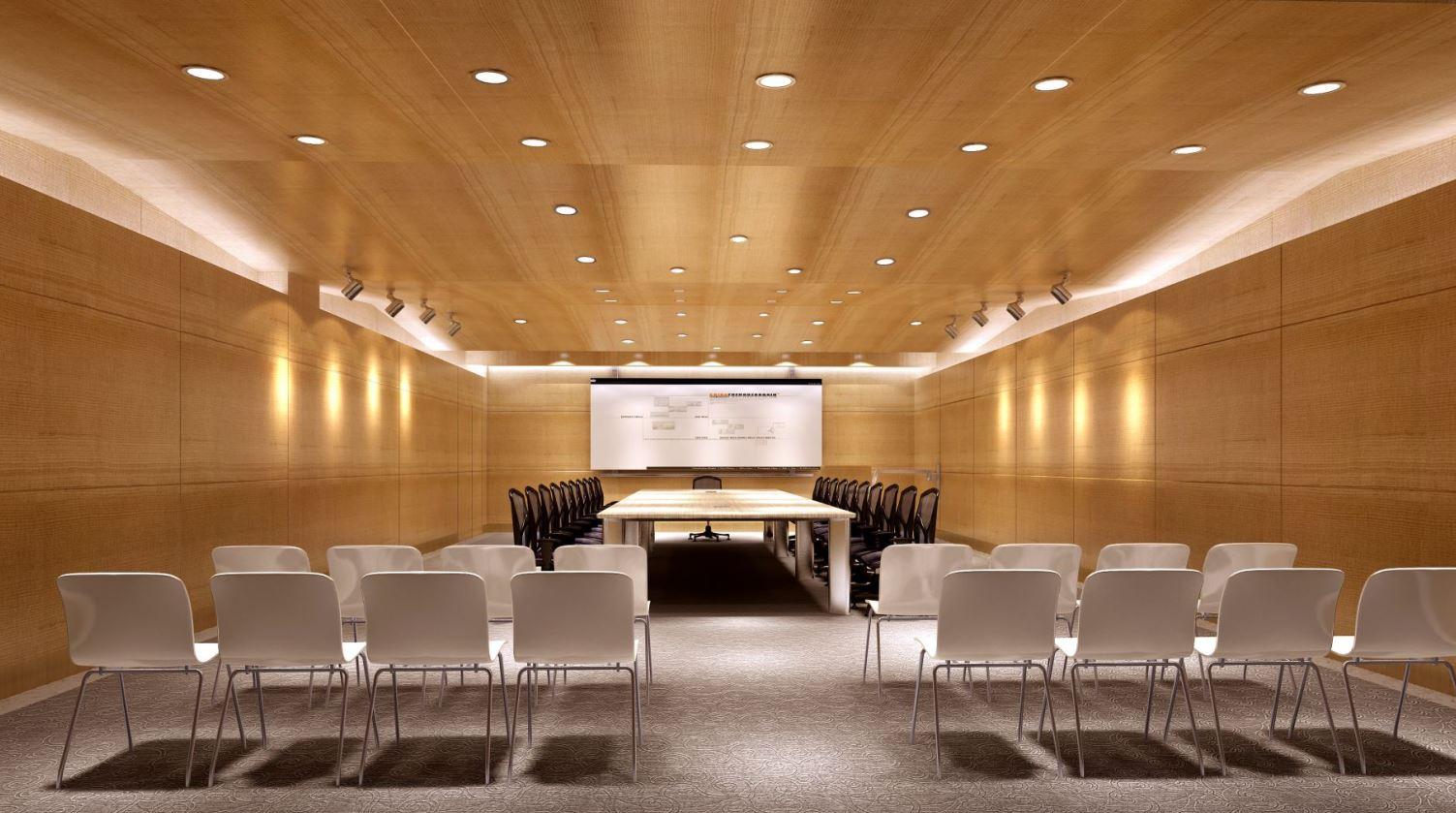 Đèn LED panel tròn chiếu sáng phòng họp