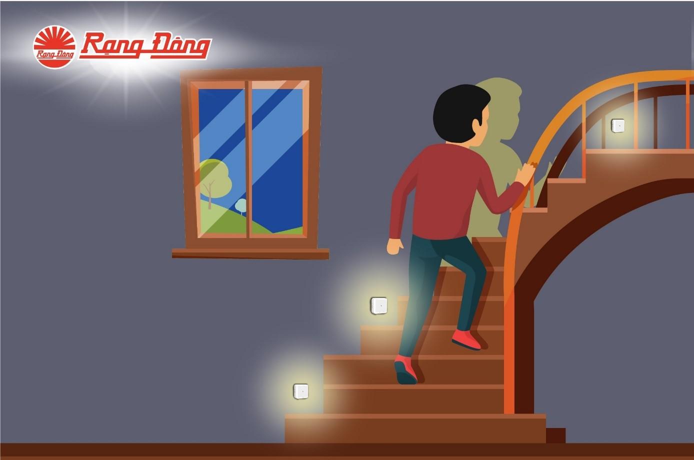 Đèn ngủ cảm biến chân cầu thang