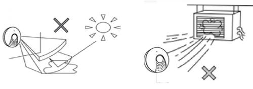 Không lắp đèn cảm biến PIR gần các nguồn nhiệt