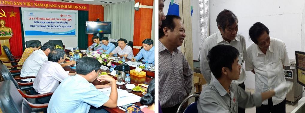 Rạng Đông hợp tác với Viện Hải Dương Học và Viện Nghiên Cứu Hải Sản