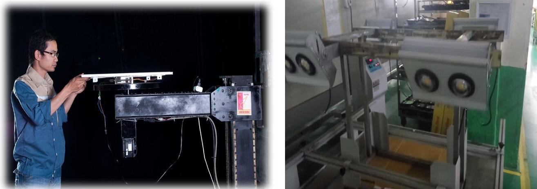 Thiết bị kiểm tra phân bố cường độ sáng và Thiết bị thử rung lắc