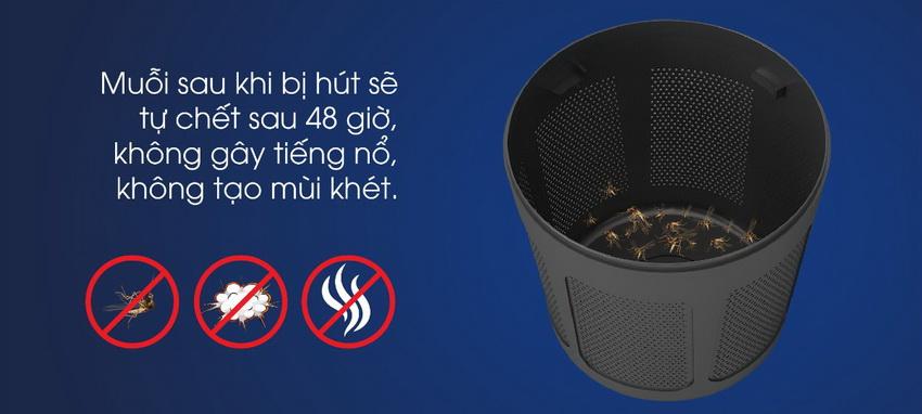 Đèn bắt muỗi Rạng Đông tiêu diệt muỗi hiệu quả không tạo mùi khét, không gây tiếng ồn.