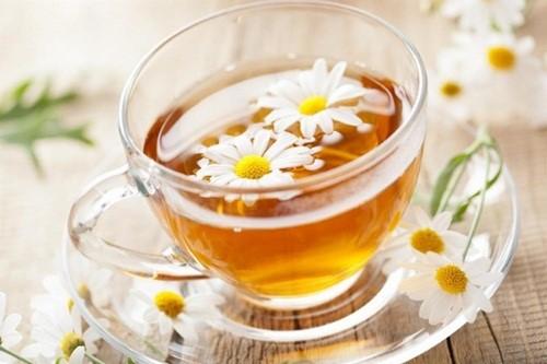 Pha trà hoa cúc sử dụng phích trà Rạng Đông