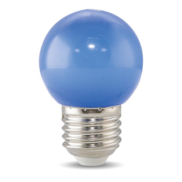 Bóng đèn LED BULB tròn màu 1W màu xanh lam