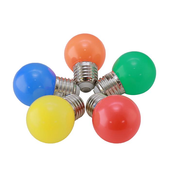 Bóng đèn LED BULB tròn màu 1W