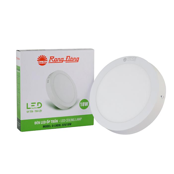 Đèn LED Ốp trần Tròn Cảm biến 18W 7