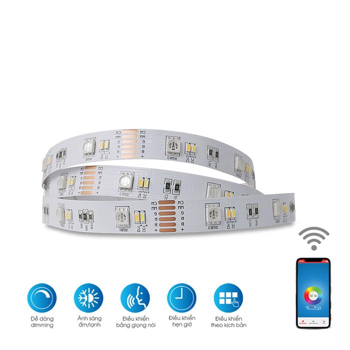 Bộ đèn LED dây RGB Wifi