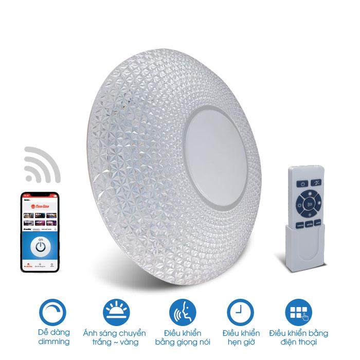 Đèn LED ốp trần thông minh wifi 48w